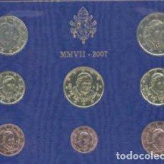 Euros: CARTERA VATICANO 2007 - 8 VALORES SIN CIRCULAR. Lote 269024284