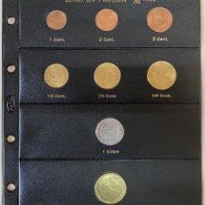 Euros: HOJA PARDO CON LOS EUROS EN PRUEBA DE 1998 SC. Lote 269211148