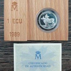Euros: MONEDA PLATA 1 ECU ESPAÑA 1989. Lote 269234163