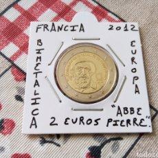 Euros: MONEDA 2 EUROS FRANCIA AÑO 2012 ABBE PIERRE EBC ENCARTONADA. Lote 270234138
