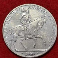 Euros: MONEDA PLATA 5 ECUS ESPAÑA 1989 EBC ORIGINAL C3. Lote 270618103
