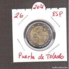 Euros: MONEDAS DE EUROS 2 € DE ESPAÑA PUERTA DE TOLEDO S/C 2021. Lote 270889663