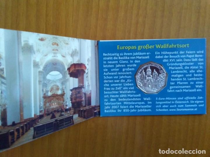 Euros: 2 X 5 EUROS -AUSTRIA 2007- ESTUCHES OFICIALES - MARIAZELL - Foto 3 - 46941065