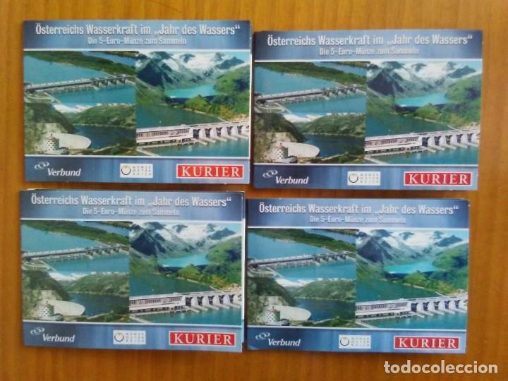 4 X 5 EURO -AUSTRIA 2003- ESTUCHES OFICIALES - WASSERKRAFT (Numismática - España Modernas y Contemporáneas - Ecus y Euros)