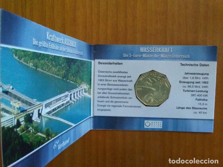 Euros: 4 X 5 EURO -AUSTRIA 2003- ESTUCHES OFICIALES - WASSERKRAFT - Foto 2 - 46941138