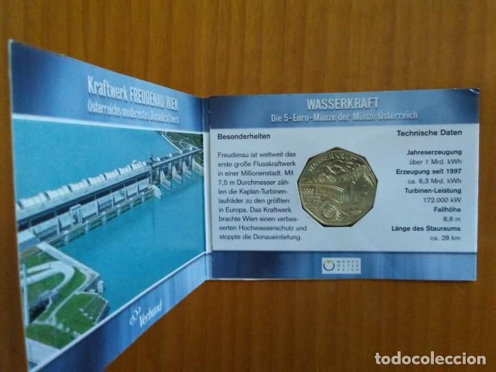 Euros: 4 X 5 EURO -AUSTRIA 2003- ESTUCHES OFICIALES - WASSERKRAFT - Foto 3 - 46941138