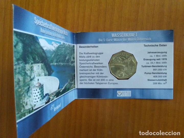 Euros: 4 X 5 EURO -AUSTRIA 2003- ESTUCHES OFICIALES - WASSERKRAFT - Foto 4 - 46941138