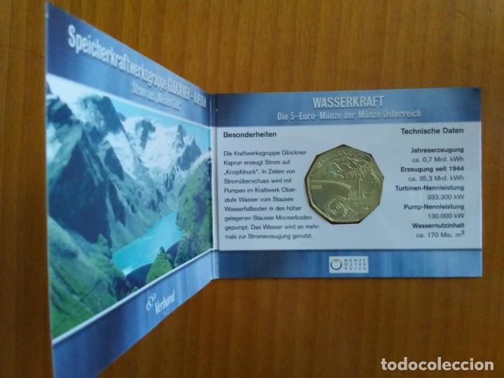 Euros: 4 X 5 EURO -AUSTRIA 2003- ESTUCHES OFICIALES - WASSERKRAFT - Foto 5 - 46941138