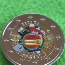 Euros: MONEDA DE 2€ EN COLOR DEL X ANIVERSARIO. 2002 AL 2012. PRECIOSA.. Lote 275538958