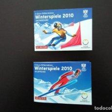 Euros: 2 X 5 EUROS -AUSTRIA 2010- ESTUCHES OFICIALES - SKY Y SNOWBOARD. Lote 26868676