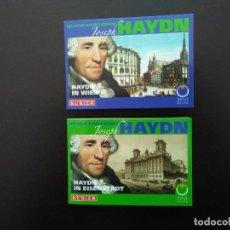 Euros: 2 X 5 EUROS -AUSTRIA 2009- ESTUCHES OFICIALES - HAYDIN. Lote 26911618