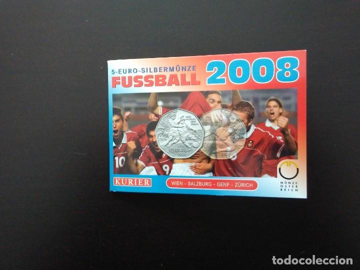 Euros: 2 X 5 EUROS -AUSTRIA 2008- ESTUCHES OFICIALES - EUROCOPA - Foto 2 - 27578637