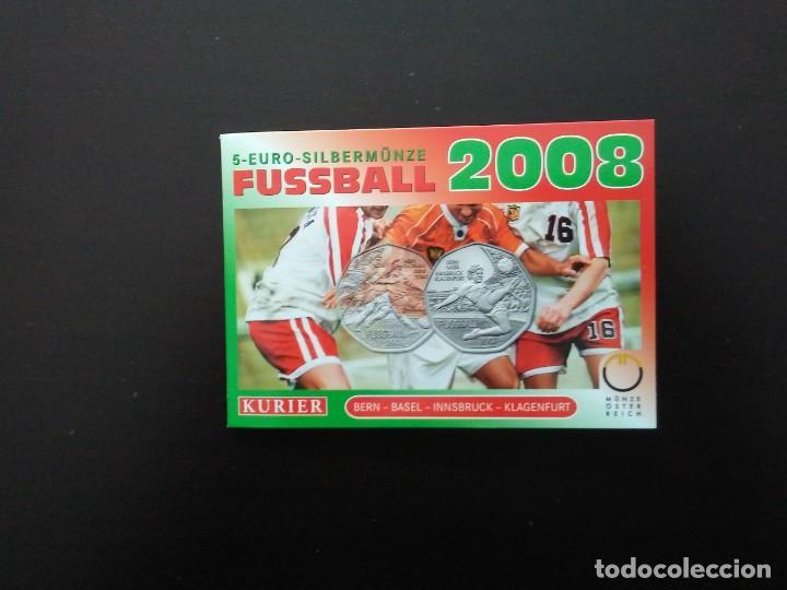 Euros: 2 X 5 EUROS -AUSTRIA 2008- ESTUCHES OFICIALES - EUROCOPA - Foto 4 - 27578637