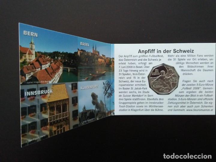 Euros: 2 X 5 EUROS -AUSTRIA 2008- ESTUCHES OFICIALES - EUROCOPA - Foto 5 - 27578637