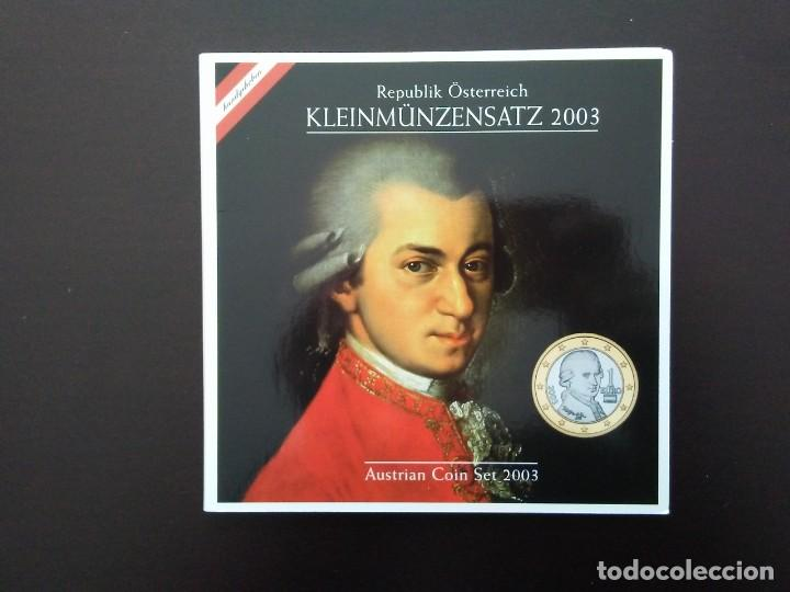 AUSTRIA 2003 -ESTUCHE OFICIAL- WOLFGANG AMADEUS MOZART (Numismática - España Modernas y Contemporáneas - Ecus y Euros)