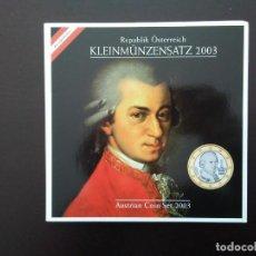 Euros: AUSTRIA 2003 -ESTUCHE OFICIAL- WOLFGANG AMADEUS MOZART. Lote 28090571