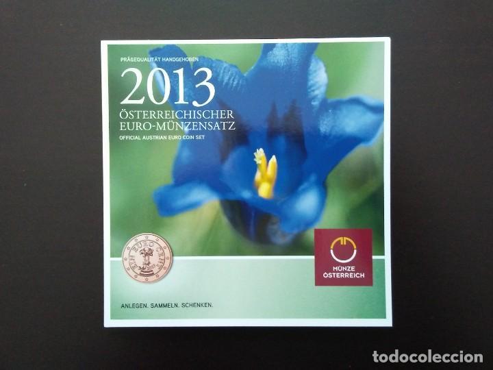 AUSTRIA 2013 -ESTUCHE OFICIAL- GENCIANA (Numismática - España Modernas y Contemporáneas - Ecus y Euros)