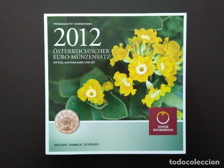 AUSTRIA 2012 -ESTUCHE OFICIAL- PRIMULA - INCLUYE CONMEMORATIVA TYE (Numismática - España Modernas y Contemporáneas - Ecus y Euros)