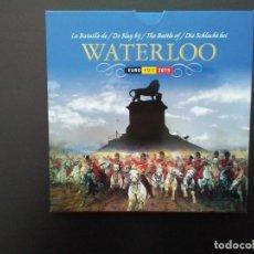 Euros: BÉLGICA 2015 -ESTUCHE OFICIAL- WATERLOO. Lote 92804260