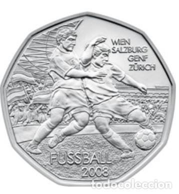 MONEDA 5 EUROS DE PLATA AUSTRIA 2008 - FUTBOL VIENA SALZBURGO - SIN CIRCULAR (Numismática - España Modernas y Contemporáneas - Ecus y Euros)