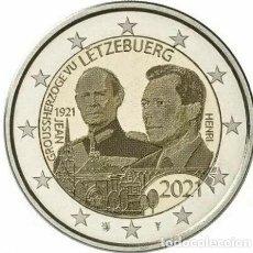 Euros: LUXEMBUROG 2 EUROS 2021 CENTENARIO DEL NACIMIENTO DEL GRAN DUQUE JEAN HOLOGRMA S/C. Lote 277030393