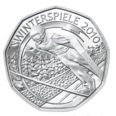 Euros: MONEDA 5 EUROS DE PLATA AUSTRIA 2010 - WINTERSPIELE SKY - SIN CIRCULAR. Lote 277060868