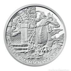 Euros: MONEDA 10 EUROS DE PLATA AUSTRIA 2011 - DER LINDWURM KLAGENFURT - SIN CIRCULAR. Lote 277111033