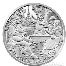 Euros: MONEDA 10 EUROS DE PLATA AUSTRIA 2011 - DER LIEBE AUGUSTIN - SIN CIRCULAR. Lote 277111193