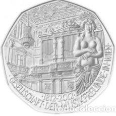 Euros: MONEDA 5 EUROS EN PLATA AUSTRIA 2012 - AMIGOS DE LA MUSICA - DE BLISTER ORIGINAL - SIN CIRCULAR. Lote 277174438