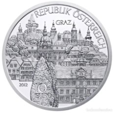 Euros: MONEDA 10 EUROS EN PLATA AUSTRIA 2012 - STYRIA - SIN CIRCULAR. Lote 277178778