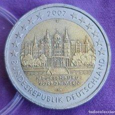 Euros: ALEMANIA 2007 2 € EUROS CONMEMORATIVOS BU CECA D CASTILLO SCHWERIN POMERANIA MECKLENBURG-VORPOMMERN. Lote 277716258