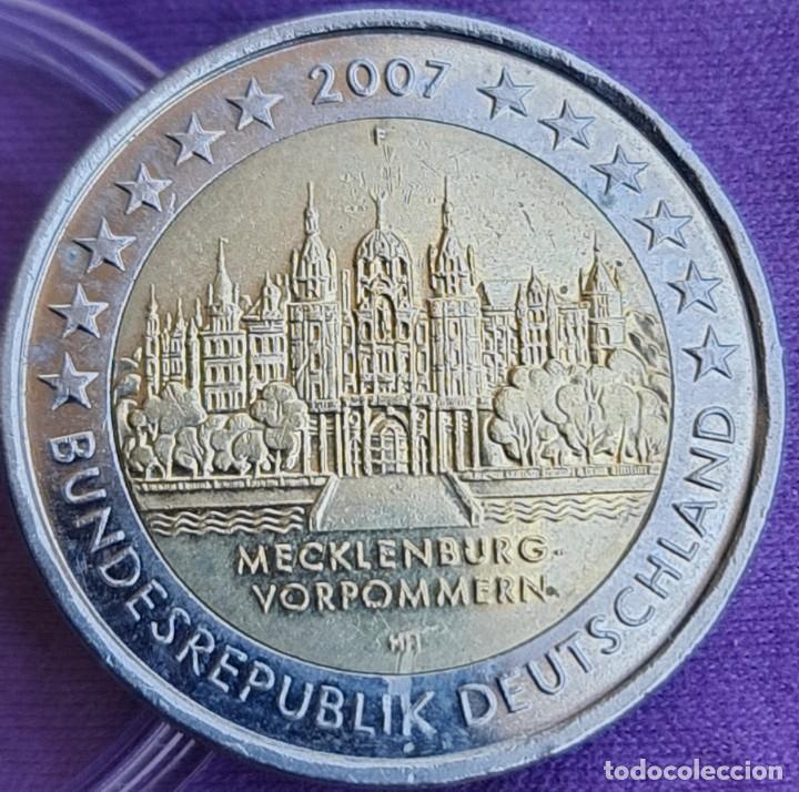 ALEMANIA 2007 2 € EUROS CONMEMORATIVOS BC CECA F CASTILLO SCHWERIN POMERANIA MECKLENBURG-VORPOMMERN (Numismática - España Modernas y Contemporáneas - Ecus y Euros)