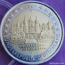 Euros: ALEMANIA 2007 2 € EUROS CONMEMORATIVOS BU CECA F CASTILLO SCHWERIN POMERANIA MECKLENBURG-VORPOMMERN. Lote 277717288