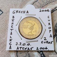 Euros: MONEDA 2 EUROS GRECIA AÑO 2004 JUEGOS OLÍMPICOS ATENAS MBC ENCARTONADA. Lote 277850108
