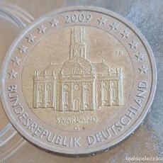 Euros: ALEMANIA 2009 2 € EUROS CONMEMORATIVOS CECA G SARRE IGLESIA SAN LUIS SAARLAND. Lote 278205808