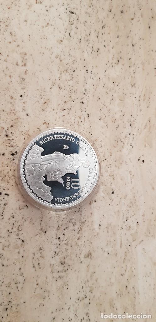 2008 BICENTENARIO DE LA INDEPENDENCIA 10 € MANUELA MALASAÑA. (Numismática - España Modernas y Contemporáneas - Ecus y Euros)