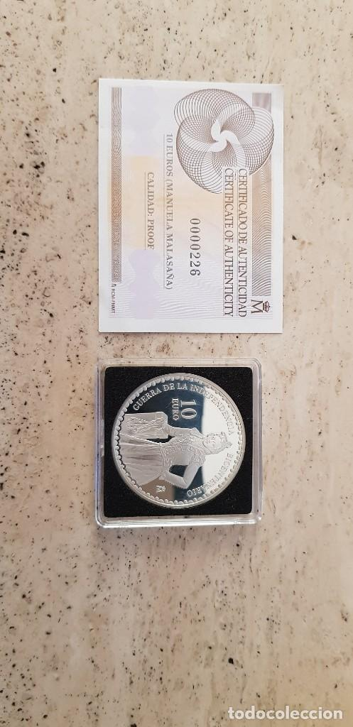 Euros: 2008 Bicentenario de la Independencia 10 € Manuela Malasaña. - Foto 2 - 278496828