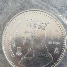 Euros: MONEDA 12 EURO 2004 ESPAÑA ISABEL FNMT PLATA EN FUNDA DEL BANCO. Lote 278928223