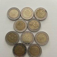 Euros: LOTE DE 10 MONEDAS DE 2€ CONMEMORATIVAS. Lote 288653888