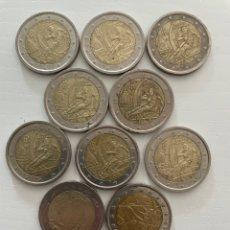 Euros: LOTE DE 10 MONEDAS CONMEMORATIVAS 2€. Lote 288654598