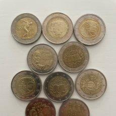 Euros: LOTE DE10 MONEDAS DE 2€ CONMEMORATIVAS. Lote 288654823