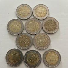 Euros: LOTE DE 10 MONEDAS DE 2€ CONMEMORATIVAS. Lote 288655163