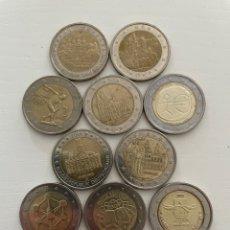 Euros: LOTE DE 10 MONEDAS DE 2€ CONMEMORATIVAS. Lote 288655333