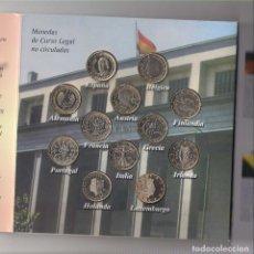 Euros: CARTERA (NO OFICIAL) CONMEMORATIVA A LA PRESIDENCIA ESPAÑOLA EN 2002 EN LA UE. 12 MONEDAS DE 1 EURO. Lote 288669038