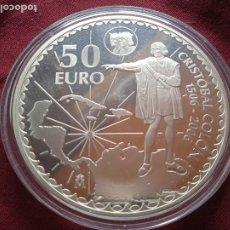 Euros: 50 EUROS 2006 PLATA SC UNC CRISTOBAL COLON. CINCUENTIN. Lote 289308188