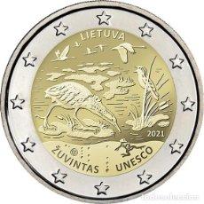 Euros: LITUANIA 2 EUROS 2021 RESERVA DE LA BIOSFERA DE ZUVINTAS. Lote 292331853