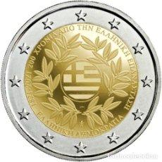 Euros: GRECIA 2 EUROS 2021 200 AÑOS DE LA REVOLUCIÓN GRIEGA. Lote 292332303