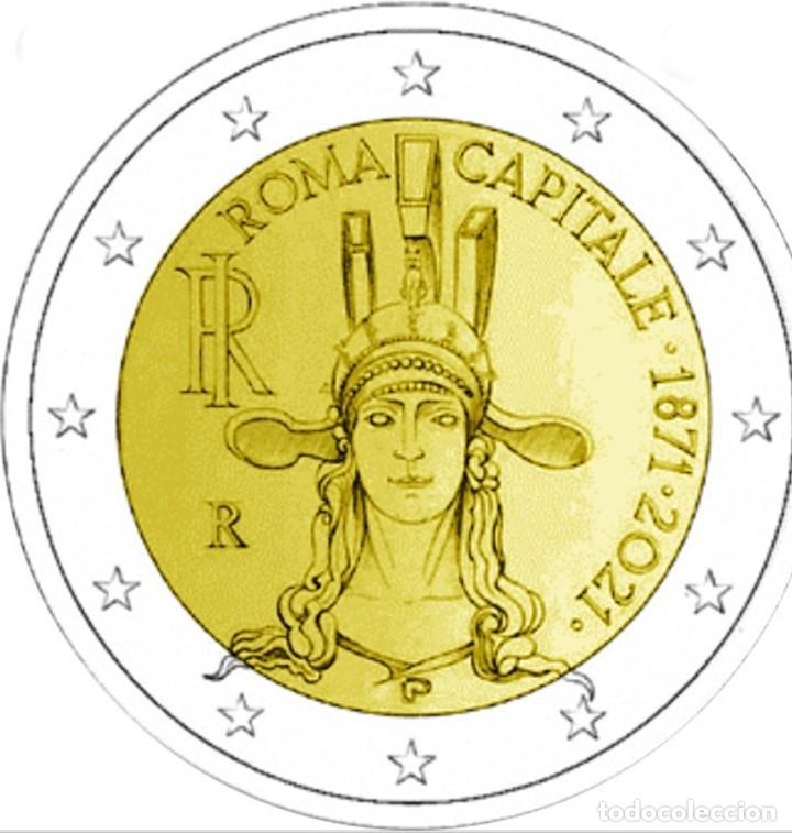 MONEDA 2 EUROS ITALIA 2021 - 150 ANIVERSARIO CAPITALIDAD DE ROMA - SIN CIRCULAR (Numismática - España Modernas y Contemporáneas - Ecus y Euros)