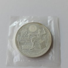 Euros: 12 EUROS DE PLATA 2005 IV CENTENARIO DEL QUIJOTE UNC . EN BOLSA.. Lote 294090278