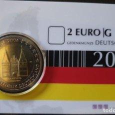 Euros: COINCARD 2 EUROS ALEMANIA 2006 - HOLSTEIN - CECA G - TIRADA 550. Lote 294101558